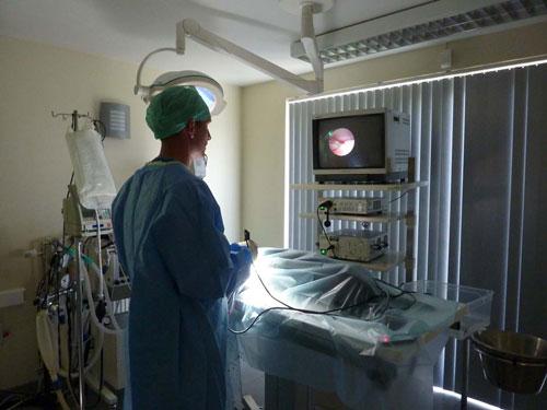 Een artroscopie van een elleboog